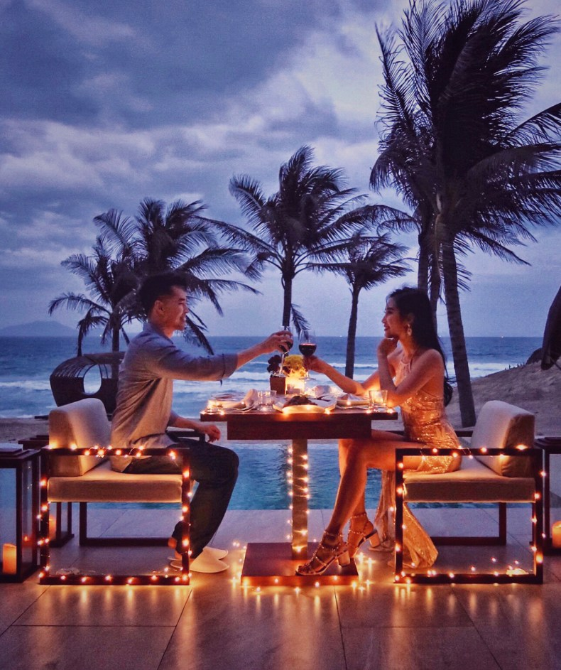 Experience Southern Vietnam from a Beach Front Villa with Private Pool | Fusion Resort Cam Ranh Hotel Review | travel destinations, south east asia villas, beautiful villas, beach resort outfits #vietnam #beachresort #hotelreview #travelblog romantic dinner, romantic date ideas