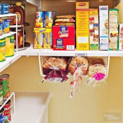 Use under shelf wire bins for bread storage.