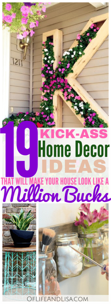 These DIY Home Decor ideas are fun, gorgeous and budget friendly! Come take a look!
