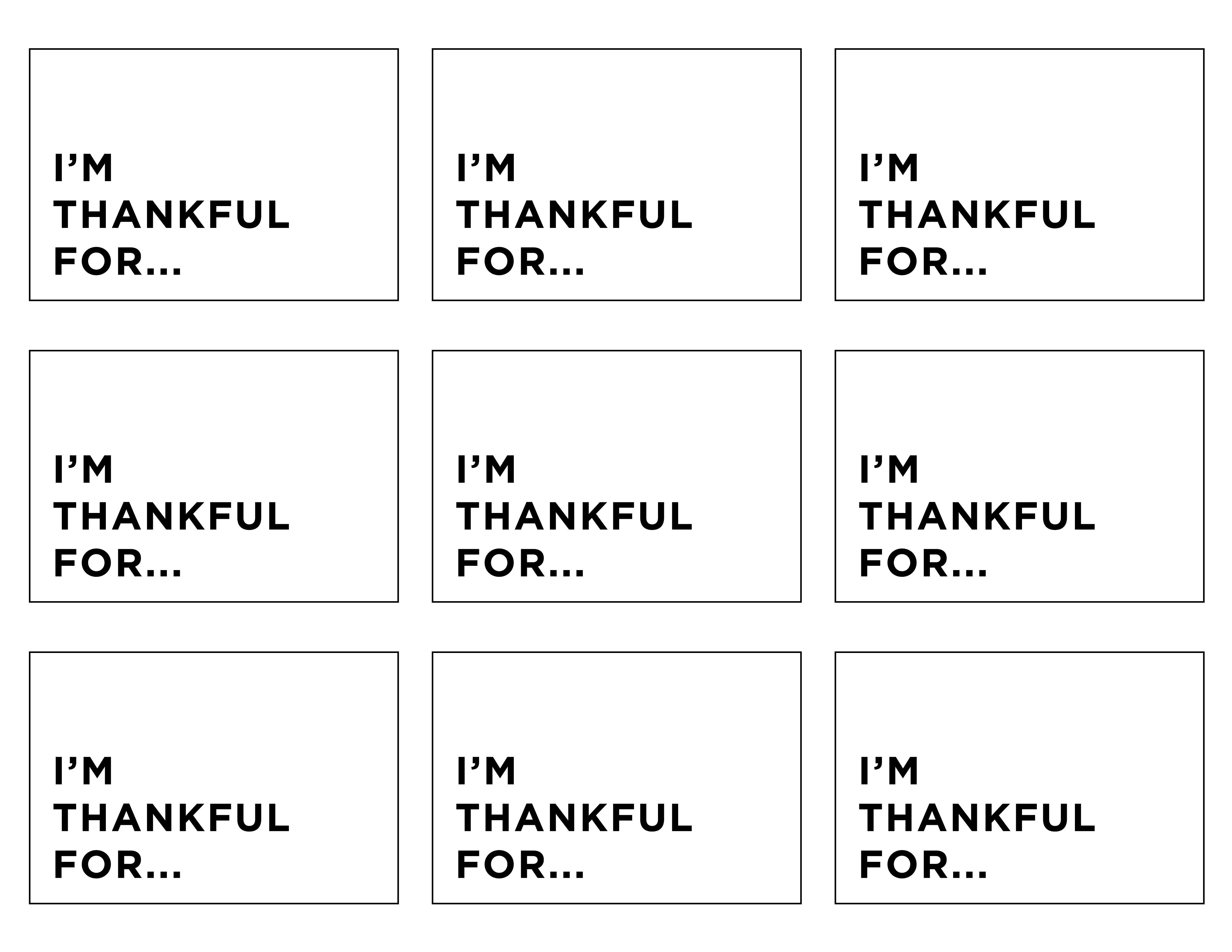 I M Thankful For A Free Printable For Your
