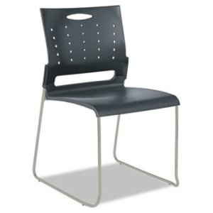 Alera Continental Series Perforated Back Stacking Chairs (4pcs)