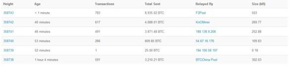 blockchain block 1 tx