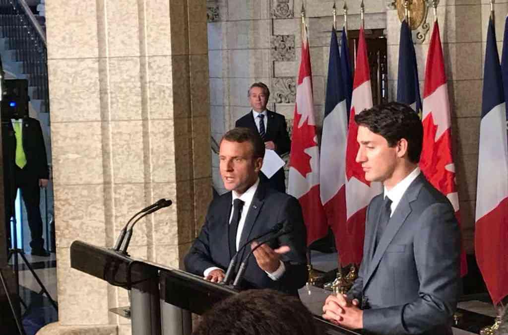 Visite Emmanuel Macron au Québec 2018