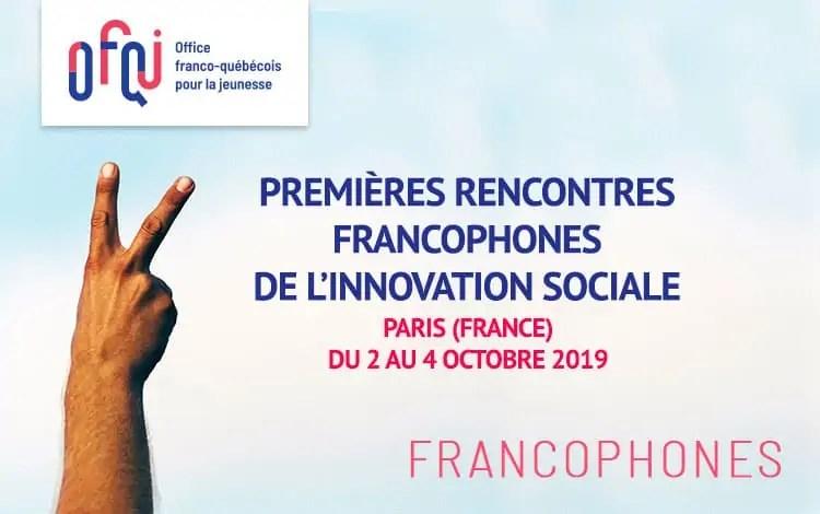 Premières rencontres francophones de l'innovation sociale 2019 – Participants francophones