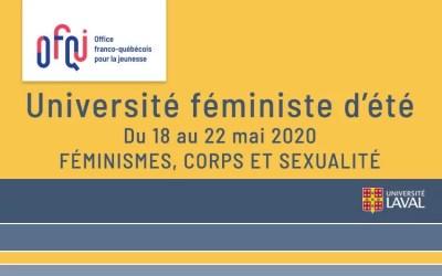 Université d'été féministe de l'Université Laval 2020