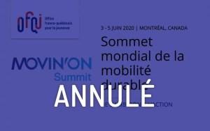 Sommet Mondial de la mobilité durable - Movin'on 2020 - Annulé