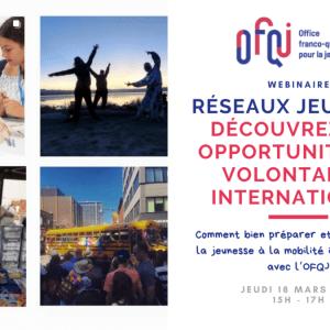 Webinaire service civique volontariat international 2021