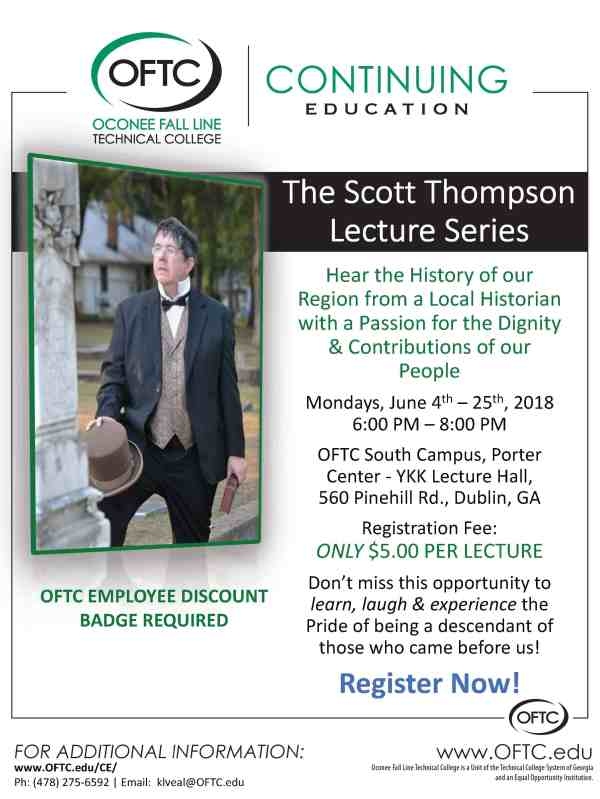 Local Historian Delivers Lecture Series at OFTC in June - OFTC