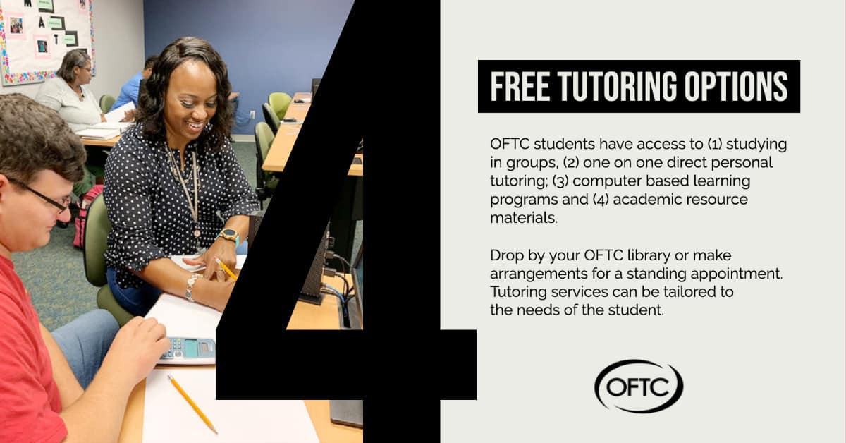 OFTC smiling instructor helping a student