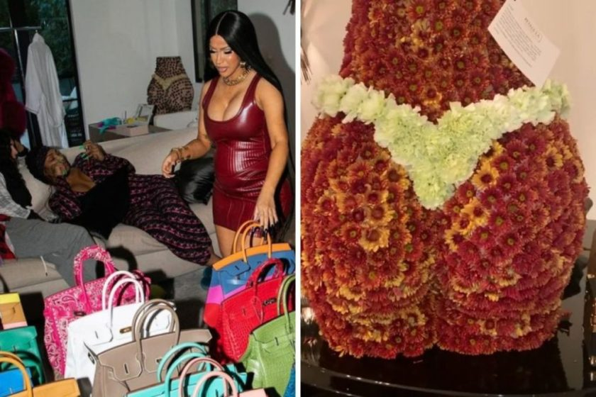 Cardi B uses as decoration the gift she received from Anitta