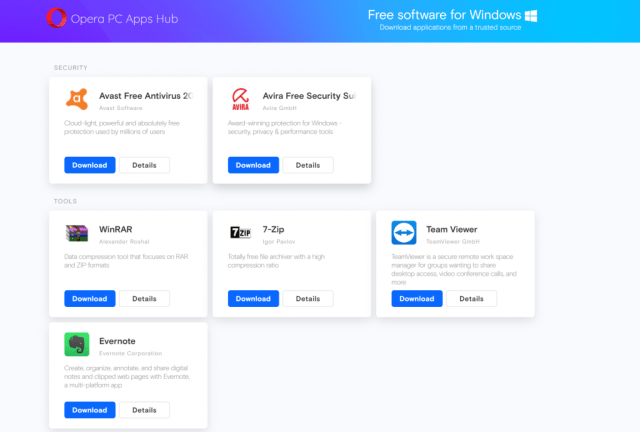 free softwares for pc opera apps hub