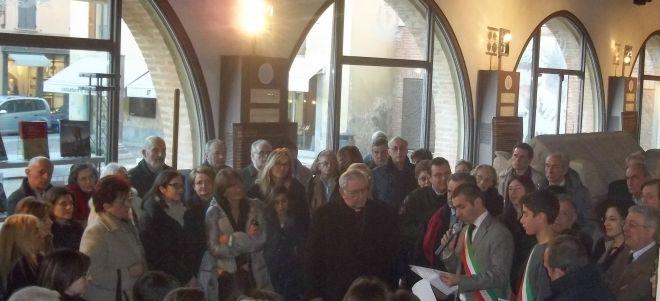 Parte del pubblico presente all'inaugurazione