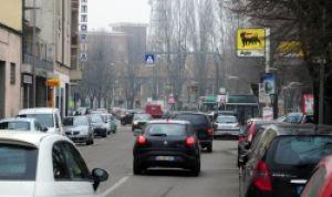 Tortona - Traffico in corso Romita