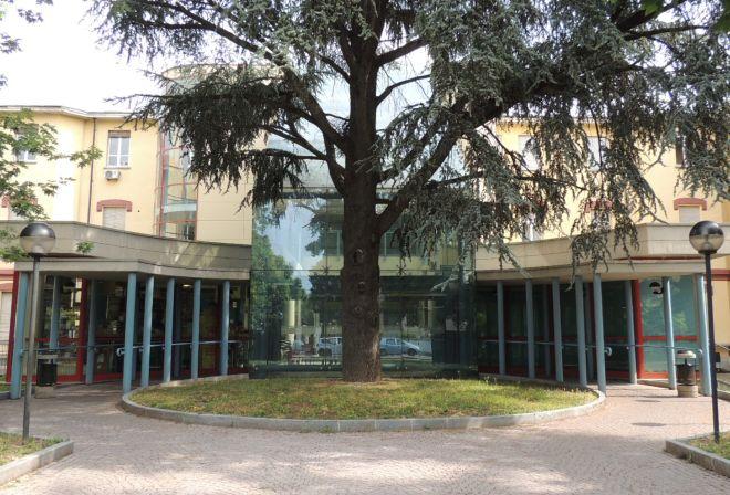 Il bellissimo ingresso  dell'ospedale di Tortona