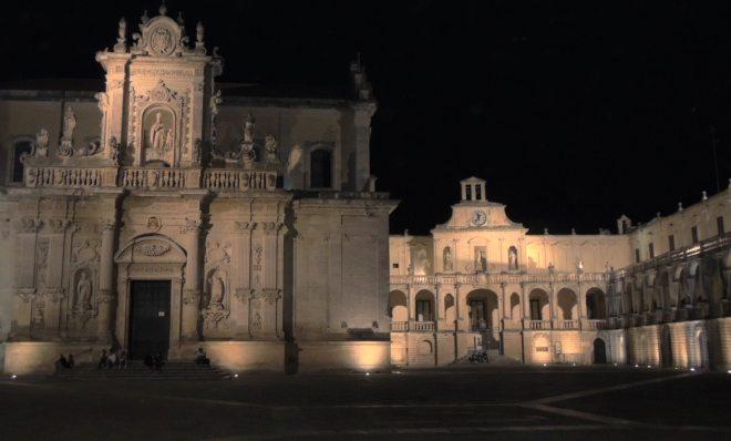 Lecce il duomo e palazzo vescovile