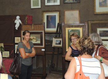 Alcuni visitatori alla mostra