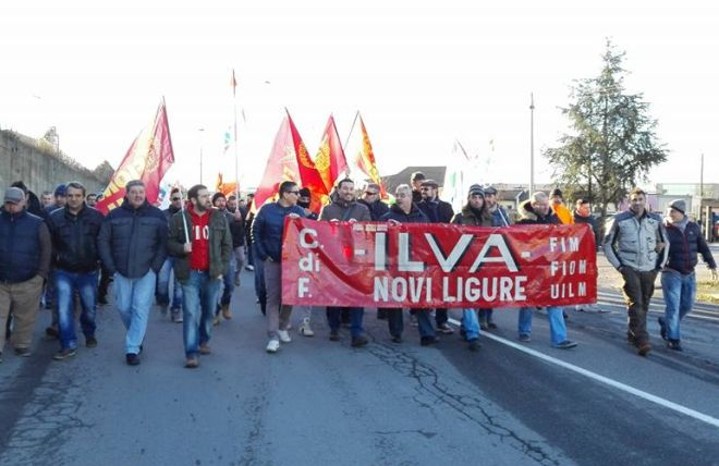 I lavoratori dell'ex Ilva di Novi entrano in sciopero