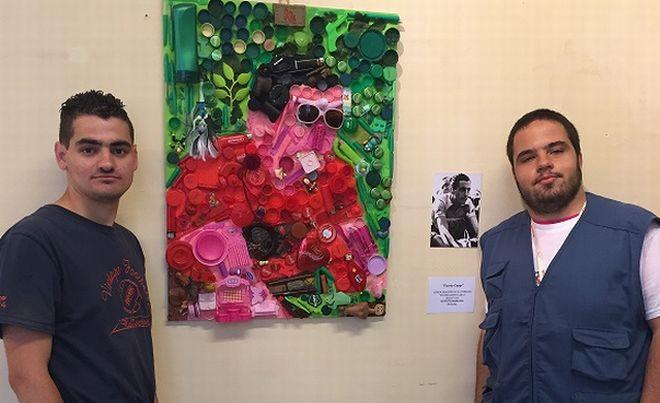 Gli studenti del Marconi trasformano i rifiuti in arte