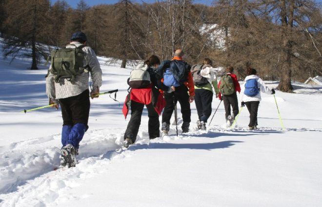 Domenica al parco della alpi liguri Ciaspolata nel bosco delle navette