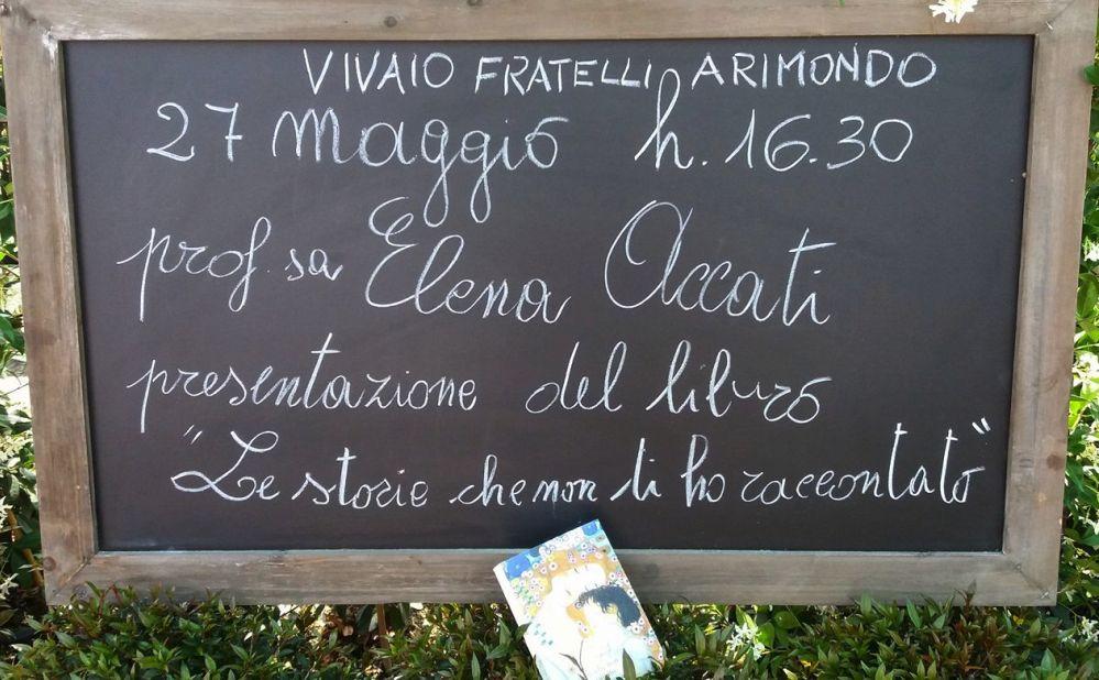 """Al Vivaio Arimondo di San Bartolomeo sabato si presenta il libro """"Le storie che non ti ho raccontato"""""""