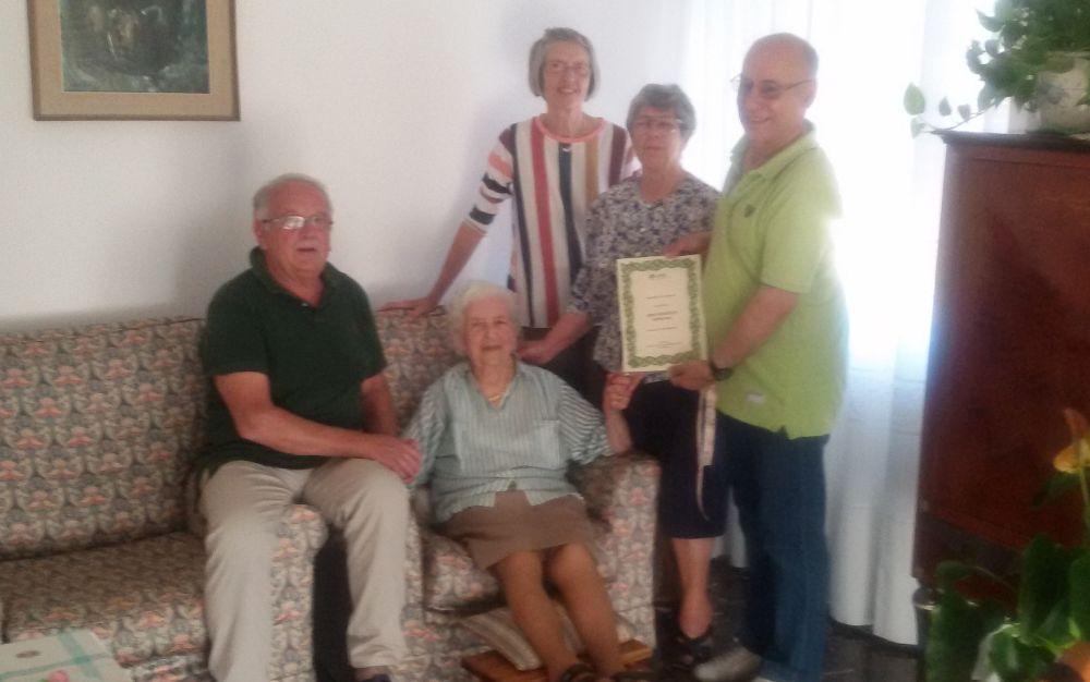 Gavi ha una nuova centenaria: è Anna Cepollina festeggiata dalla Cisl e in famiglia