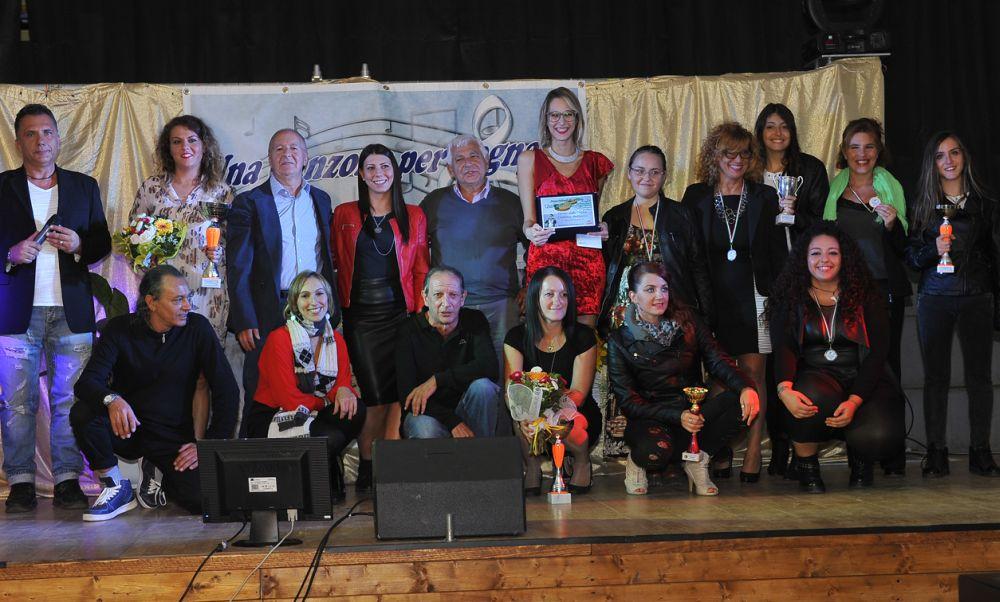"""Gaia Fiori vince la settima tappa  di   """"Una Canzone Per Sognare"""" Edizione 2017,  Per le Giovani proposte vince  Marzia Noviello e  Over Liliana D'ercole."""