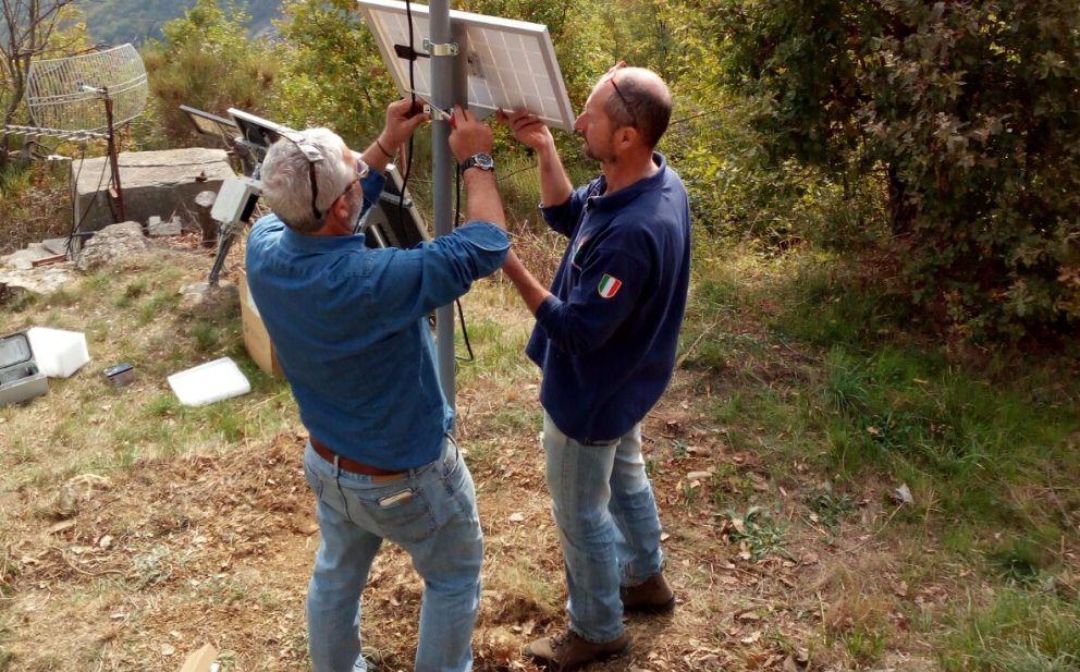La protezione Civile di IMperia controlla i livelli delle piogge con un nuovo pluviometro