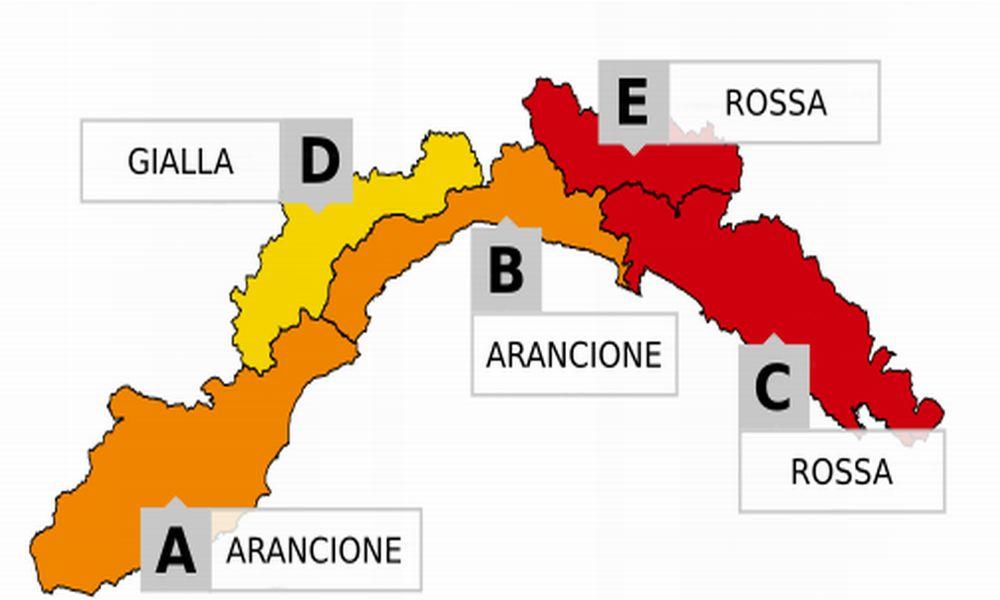 L'Arpal ha aggiornato l'allerta piogge per lunedì: da giallo ad Arancione in tutta la provincia di Imperia