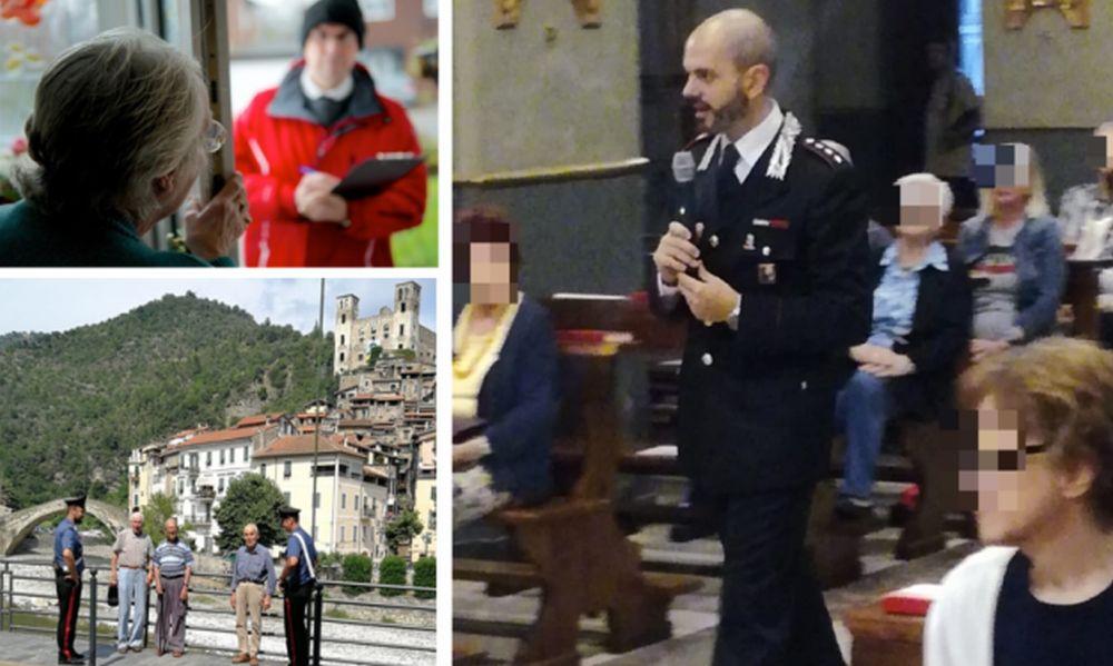 A Dolceacqua i Carabinieri danno consigli agli anziani su come evitare le truffe
