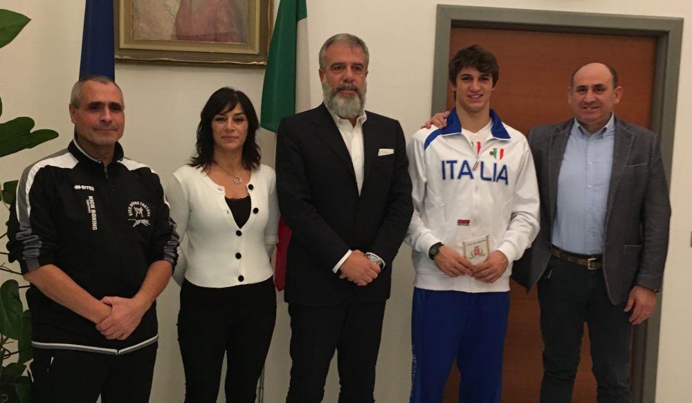 Tortona, al vice campione del Mondo Leonardo Bonetti, i complimenti del Comune