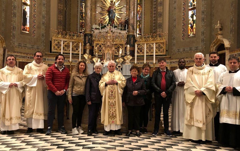 Al Santuario della Madonna della Guardia di Tortona festeggiati i 90 anni di Don Serafino Tosatto