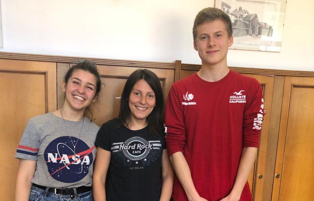Luisa Falcione e Francesco Lantero di Ovada insieme a Camilla Dente vincono concorso Repubblica scuola