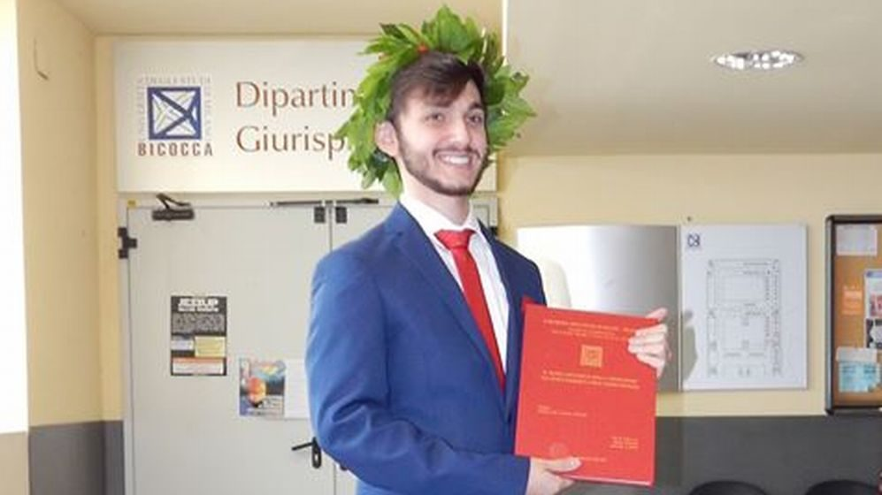 Il tortonese Alberto Tipaldi laureato in scienze dei servizi giuridici col massimo dei voti, complimenti