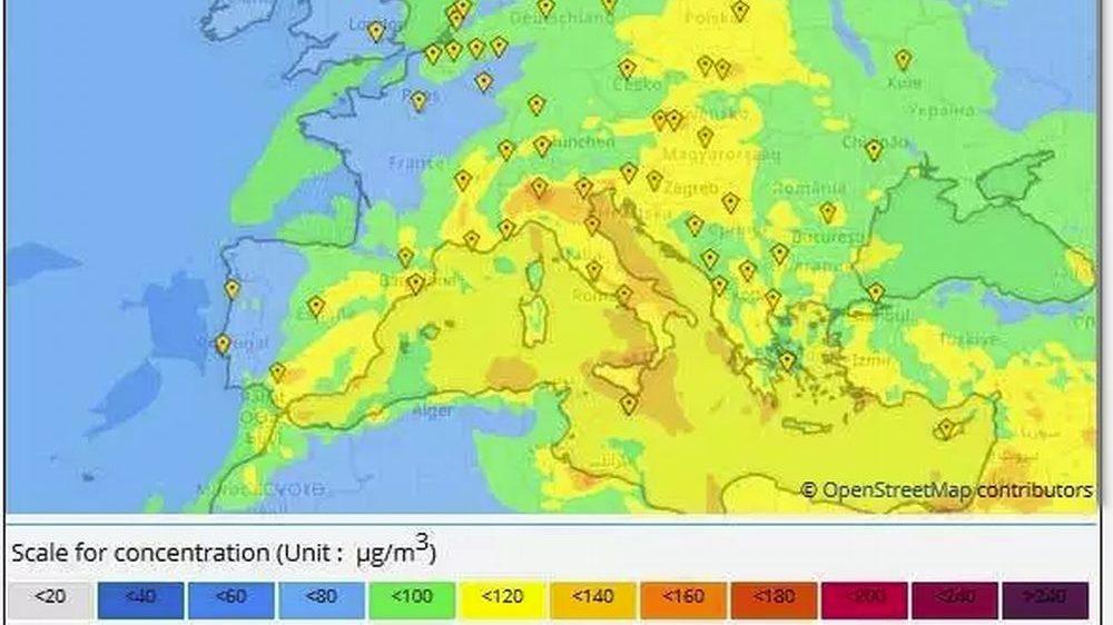 Ozono, un luglio bollente in Italia e anche da noi