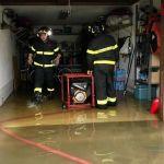 A Tortona il temporale di ieri ha fatto crollare anche un muro in un  seminterrato. 40 gli interventi dei pompieri