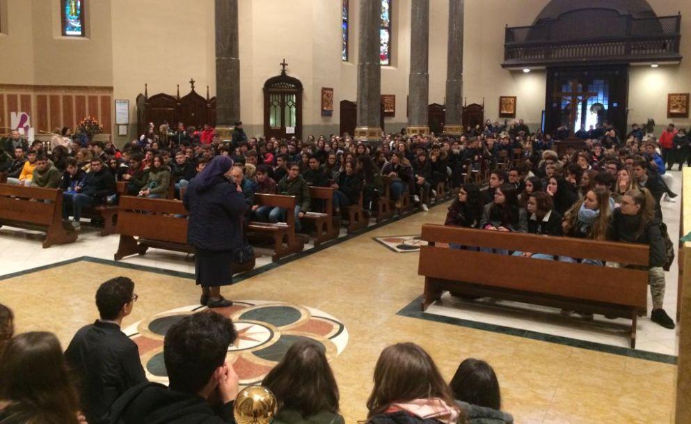 I giovani del Marconi di Tortona al Santuario per ricordare Don Puglisi