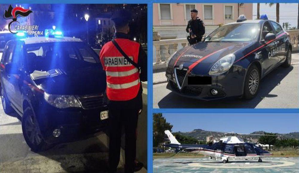 Un arresto e 5 denunce nei controlli dei carabinieri di Imperia ad inizio anno