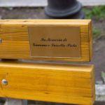 Ad Acqui terme una panchina in memoria di Giacomo e Luisetta Piola