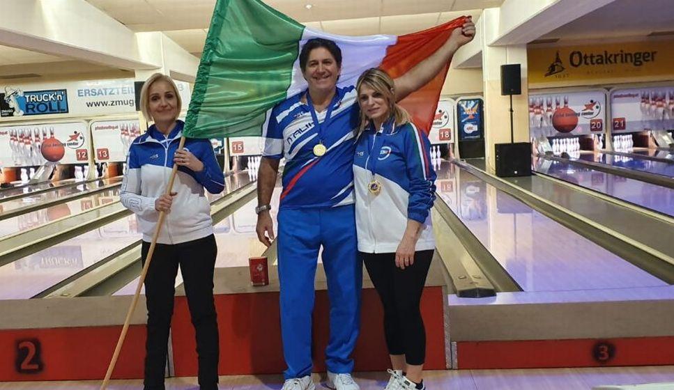 Marco Reviglio di San Bartolomeo al mare vince due Ori e due Bronzi a Vienna nel Bowling