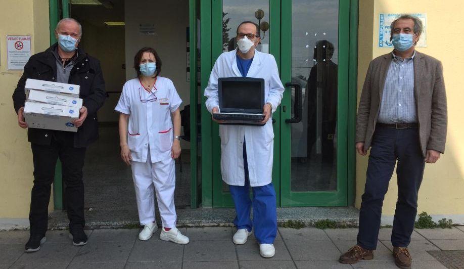La Lilt dona un ecografo portatile all' Asl di Imperia per i malati di Covid-19