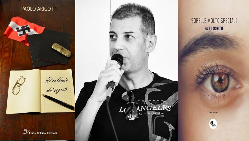 Lo scrittore Paolo Arigotti presenta i suoi libri, tutti molto particolari e da leggere