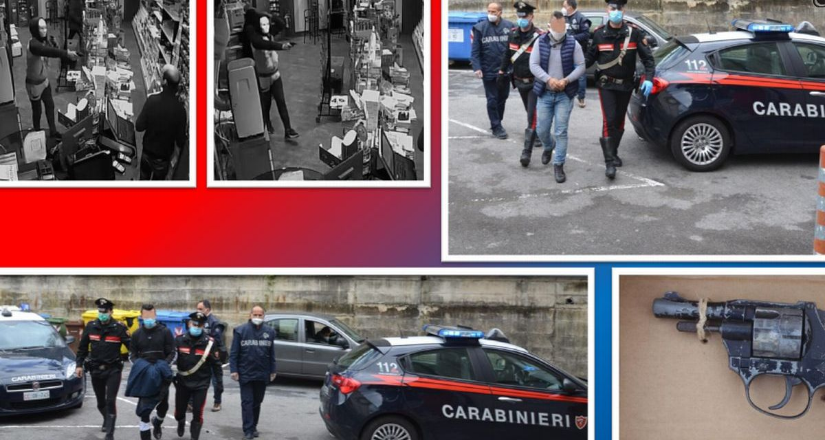 I Carabinieri arrestano i rapinatori della tabaccheria di Cipressa