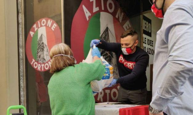 Azione Tortona continua a fare del bene e ha distribuito nuovi pacchi alimentari alle famiglie bisognose