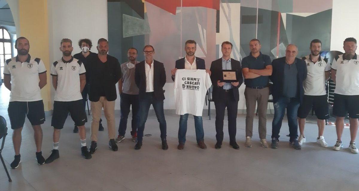 Il Sindaco di Tortona Federico Chiodi si congratula col Derthona neo promosso in Serie D