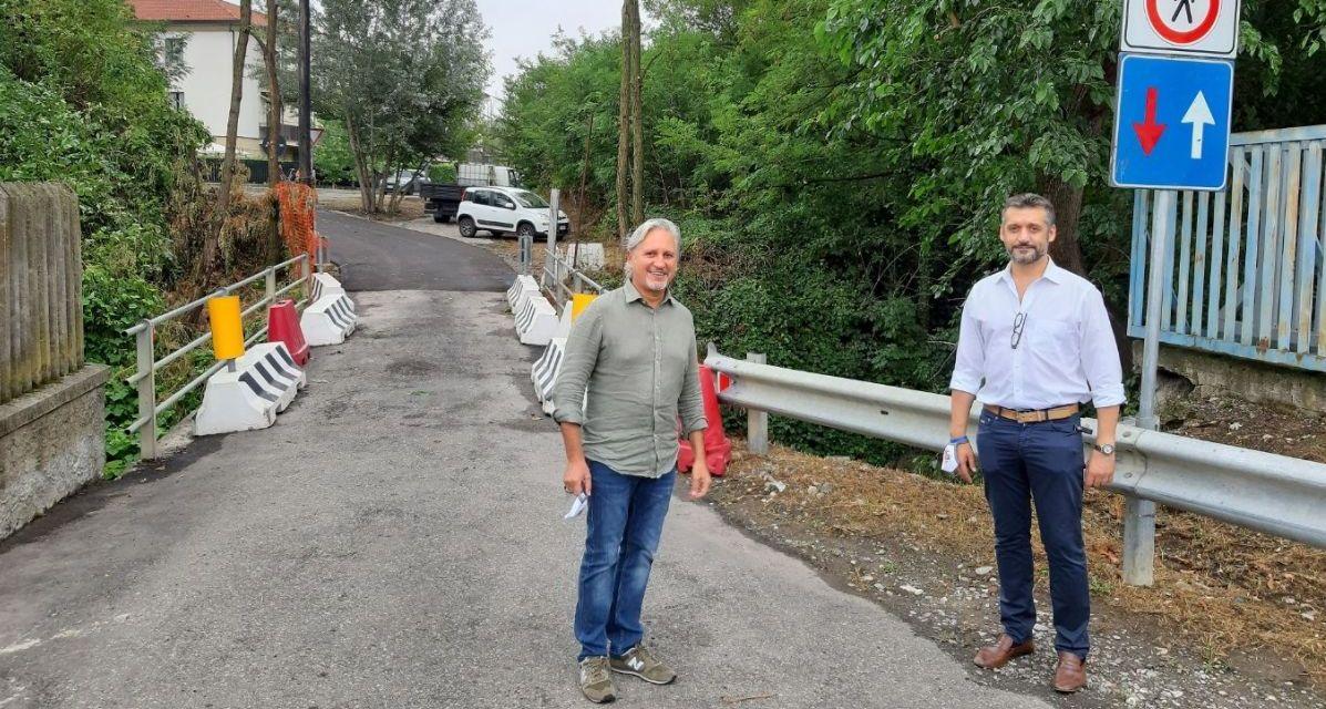 A Tortona riaperto il ponte sulla zona residenziale a sud della città, in via Don Goggi verso strada viola