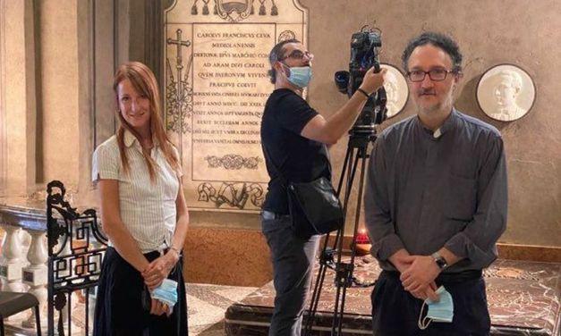 Due ore di riprese della Rai a Tortona per Lorenzo Perosi con la guida di Don Paolo. Le immagini