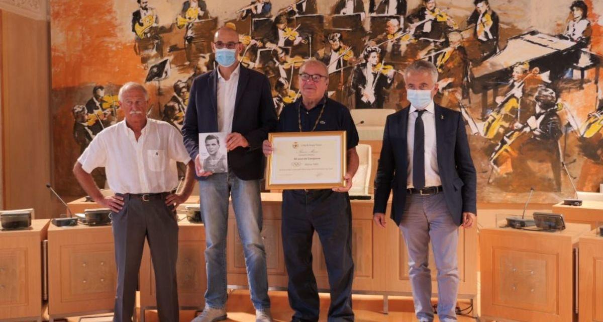 Acqui Terme ha celebrato la medaglia d'oro vinta da Franco Musso 60 anni fa