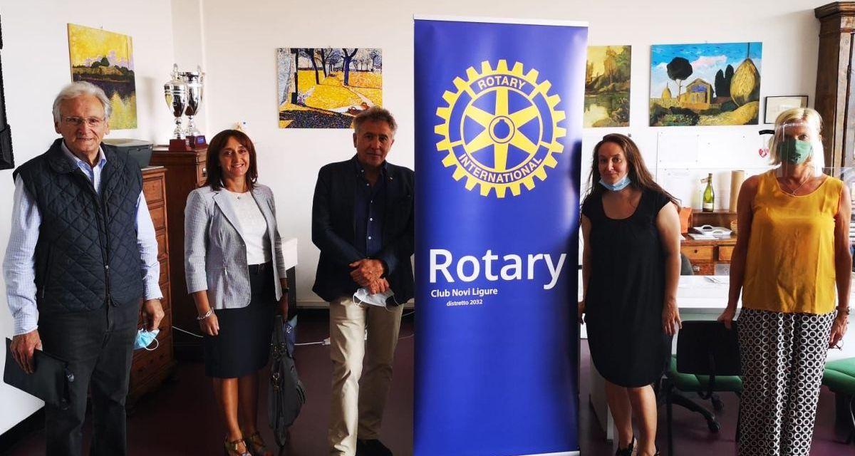 Il Rotary Club di Novi Ligure dona 150 visiere alle scuole