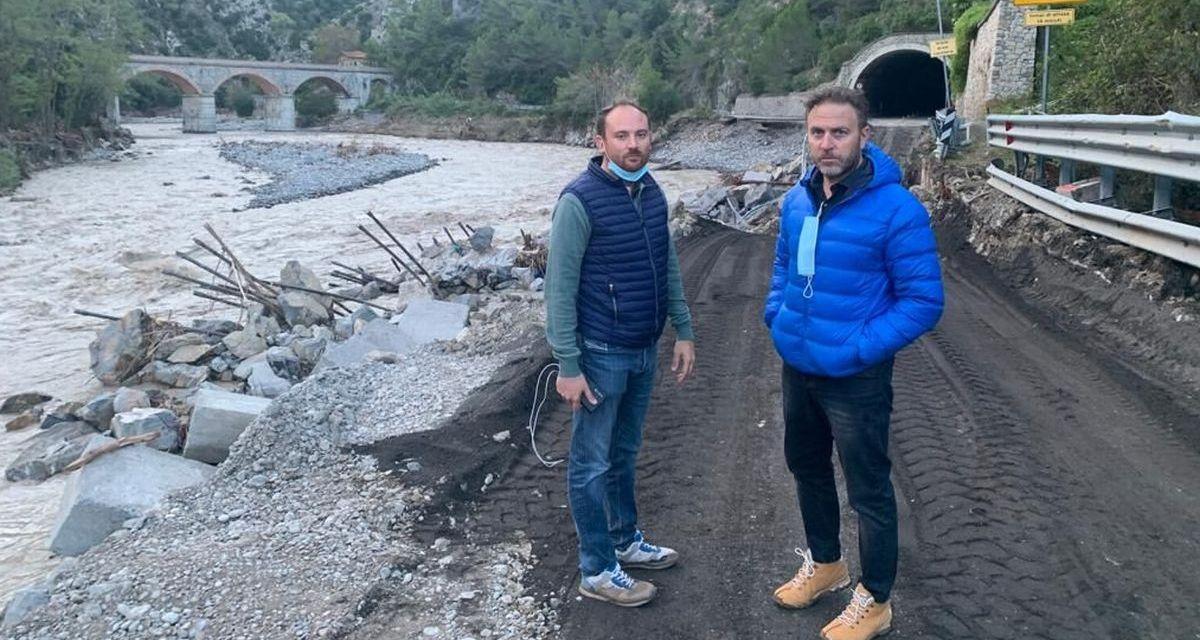 Il presidente Toti e Piana in sopralluogo nel Ponente Ligure nelle zone colpite dal maltempo