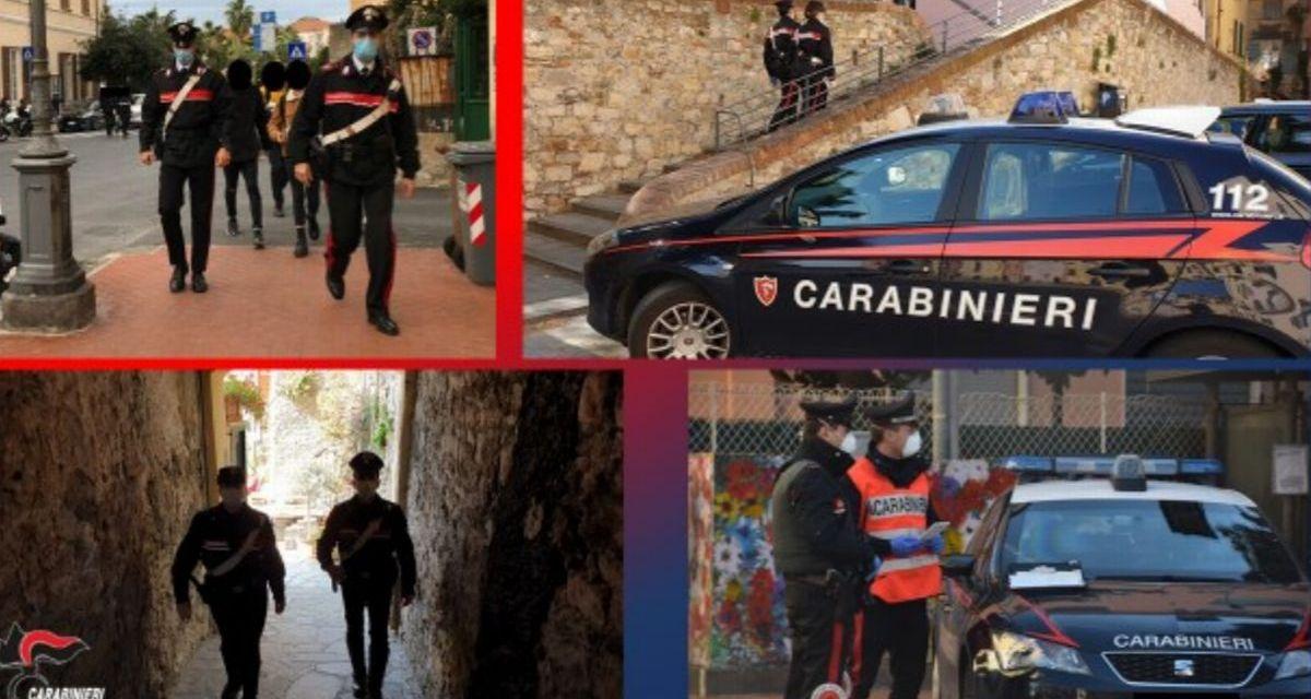 Tutti controlli del Comando Carabinieri di Imperia nel week end e le persone finite nei guai